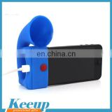 Customized Silicone Horn Stand Speaker for Promotion