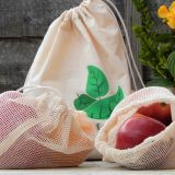 Reusable Cotton Produce Bags / Organic Cotton / Grocery Storage / Muslin bag / Plastic Free / Zero Waste Shopping / Eco-Friendly / Washable