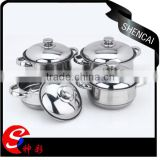 Cheap price south africa 4pcs cooking pots/indian cooking pots/stainless steel cookware set