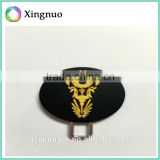 Silicone double sides logo pull zipper for bag