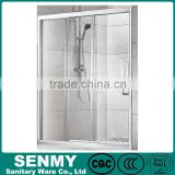 factory directy selling aluminum frame flexible 3 sides glass 3 doors sliding shower door