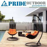 Patio Rattan Sofa Wicker Hanging Chair Stand Outdoor Hanging Lounge Chair