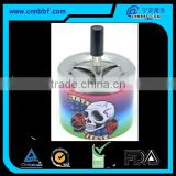 Customized skull printing tin spinning ashtrays