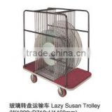 Lazy susan glass table trolley