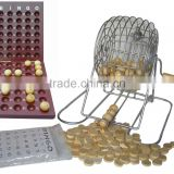 bingo set with iron cage ,balls and cards
