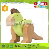 2015 New Style Mini Animal Toys Size 19*17*9cm Wooden Educational Tino Dinosaur Construction Set for Kids