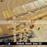 shopping mall & hotel ball hanging led lights ball curtain atrium christmas ball decorations