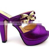 pruple high heel party slipper platform lady wedding shoes