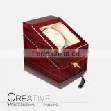 Newest design wholesale customized wooden watch box with winder