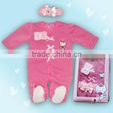 2016 baby gift set romper Angel cat baby clothes baby girl clothes