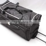 stock stocklot overstock closeout nylon wheeled trolley travel bag