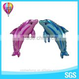 2016 dolphin mylar balloon with new design animal helium foil balloon for party decoration and kids' toy