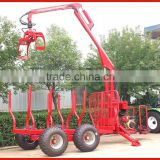 5ton 8ton log trailer with crane for forestry working