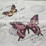 jacquard cushion polycotton cushion for home &hotel decoration &promotion&gift pink butterfly design-4