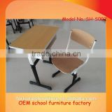 cheap KD classroom furniture / ergonomic student desk and chair set                                                                         Quality Choice