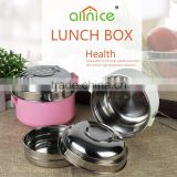 Allnice new design stainless steel protable thermos bento box/food lunch bento box with clamp for child