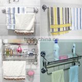 No drilling Bathroom Double Deck coat rack/towel rack/clothing rack/bathroom rack towel rack