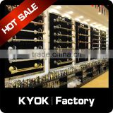 KYOK New Design polished brass curtain rods ,length 6m curtain pole ,curtain rod factory in foshan