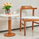 Modern wooden teak color arm chair with fashionble round table