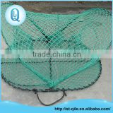 Factory price high strength green pe net oval folding metal lobster traps