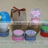 Supplying portable travel tin candles