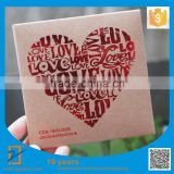 25pcs 13x13cm 250g Kraft Paper Heart Lock + Red Foil Printing CD DVD Disc Storage Bag Kraft Paper CD DVD Sleeve, Free Shipping