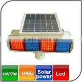 Warranty 1 year IP65 aluminium alloy solar traffic signal light double-sided led solar traffic light