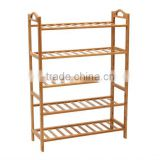 Best bamboo houseware,5 tiers standing shoe rack