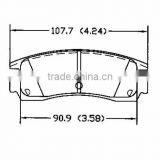 D698 1251 0016 Rear for buick Cadillac Chrysler Oldsmobile Plymouth Chevrolet Dodge Opel Pontiac Eagle brake pad hi-q