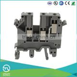 UTL Bulk Buying 24-12 AWG One-in Two-out Electrical Push Wiring Terminal Euro Plastic 4mm Terminal Blocks