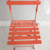 Outdoor Patio Folding Steel Chair Furniture, metal chair color, patio steel chair