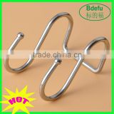 Factory price 304 Stainless Steel S Hook Kitchen Garage Utensil Utility Double Large Hook