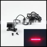 car defense system alarm laser warning light anti-collision brake tail lights led laser rear fog lamp