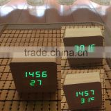 2016 NEWEST hot sale wood led clock led wooden clock wooden led digital alarm clock digital led clock for home & hotel