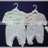 100% cotton printed embroidery baby romper