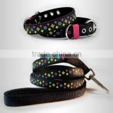 star fashion Rubber & Nylon Leather High Quality Black Brown White Dog Collar,water proof