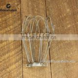 Aged Industrial Wire Cage Light Guard Vintage Style For Desk or Pendant Lighting Handmade Clamp On Supplies Tarnished
