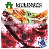 Mulinsen textile made by Germany machine soft yarn fabric with spandex, viscose printed fabric
