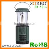LED Camping Lantern Ultra Bright Portable Flashlights Hand Crank Solar Lamp with Radio Power Bank