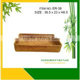 Large size and rounded corners for rattan tray
