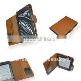 PU Leather Booklet Case for Kindle Touch,with Card Slot