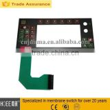 High performance HOT selling Die cutting transparent LCD touch screen film membrane and rubber numeric keypad