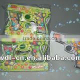 bubble gum balls on pistol shaped paper card (bag) (chewing gum,candy)
