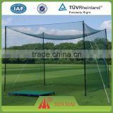 HDPE, Nylon, Polyester multifilament knotted netting for golf practice net, golf goal net, outdoor golf net