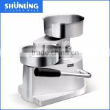 Hamburger Patty Press maker SL-H130, anodized aluminium alloy body, stainless steel bowl