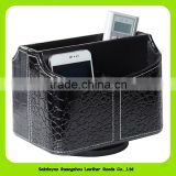15002 Elegant PU leather rotate remote mobile holder desktop stand for office household articles