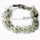 Stunning Crystal Quartz Chips Fuse Wire Bracelet | Agate Jewelry For Sale | Khambhat Agate Exports