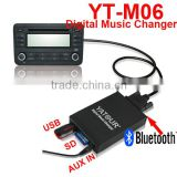 Yatour yt-m06 professional Car audio Phone call hand free kit/Digial USB/SD/AUX/Bluetooth MP3 kit player
