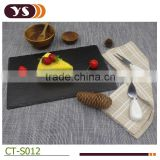 Black high quality slate cheese board set with cheese tools
