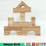 Melors non smell City Building Natural large eva foam Wooden grain building blocks/kids building blocks manufacturer in china